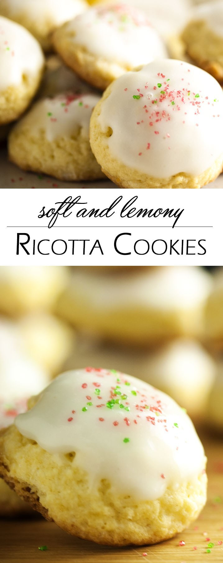 Lemon Christmas Cookies  Soft and Lemony Ricotta Cookies Just a Little Bit of Bacon