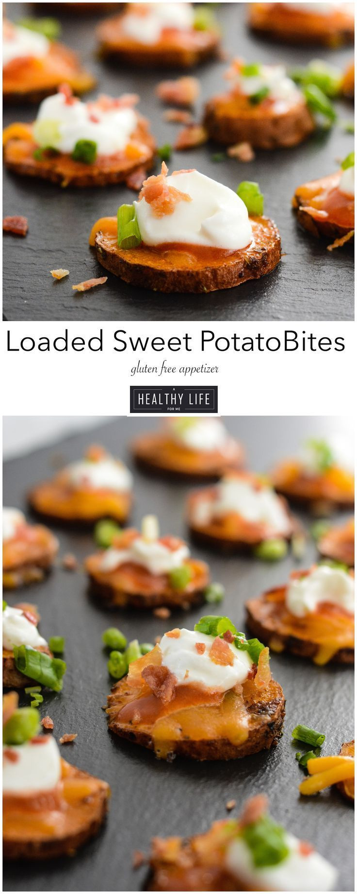 Light Thanksgiving Appetizers  Loaded Sweet Potato Bites Recipe