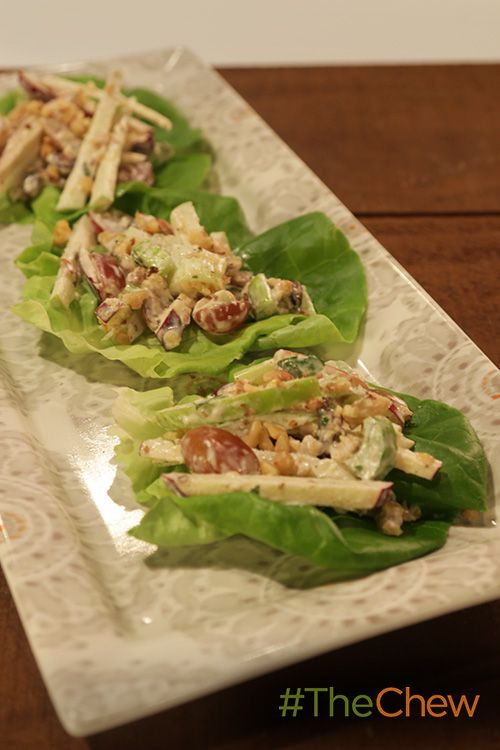 Light Thanksgiving Appetizers  These Waldorf Salad Cups are a great & light appetizer for