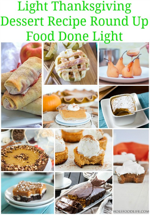 Light Thanksgiving Desserts  Healthy Thanksgiving Sides & Desserts Recipes Food Done