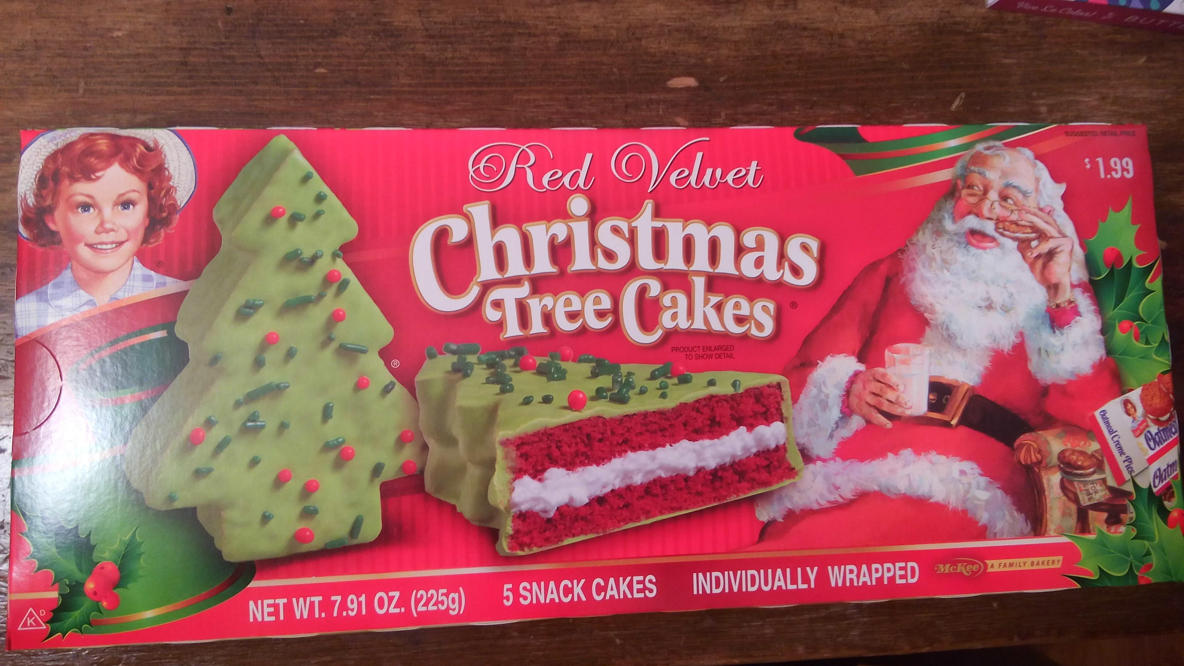 Little Debbie Christmas Cakes  Little Debbie Red Velvet Christmas Tree Snack Cakes
