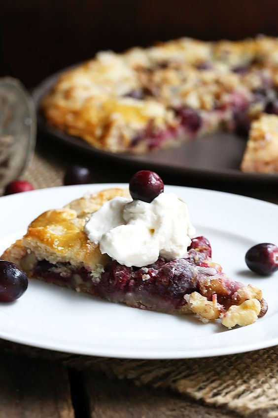 Low Carb Christmas Desserts  Cranberry Walnut Galette Recipe