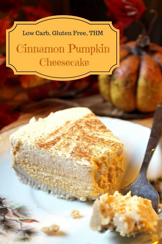 Low Carb Fall Recipes  Low Carb Cinnamon Pumpkin Cheesecake Recipe
