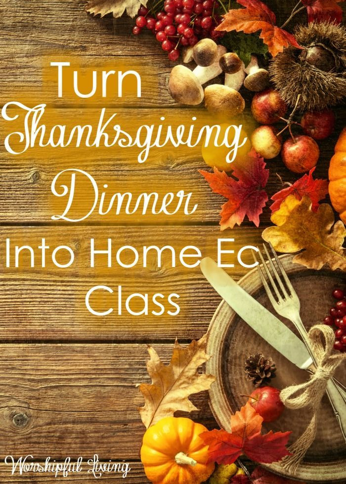 Lunds Thanksgiving Dinners  How to Turn Thanksgiving Dinner into Home Ec Class