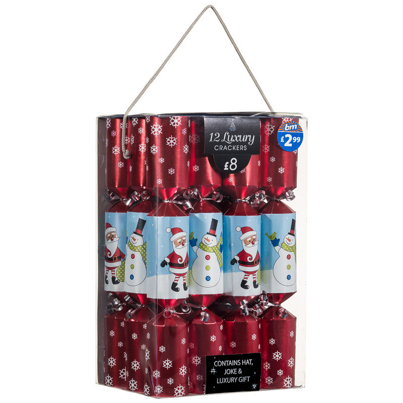 Luxury Christmas Crackers  B&M Luxury Christmas Crackers 12pk 14""