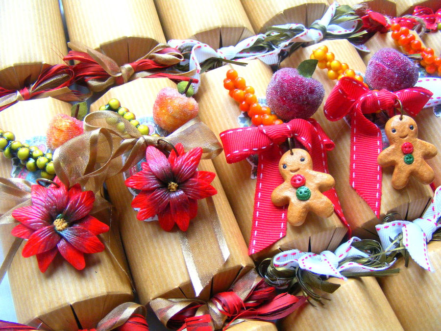 Luxury Christmas Crackers  Luxury Christmas Crackers Polymer Clay Christmas by