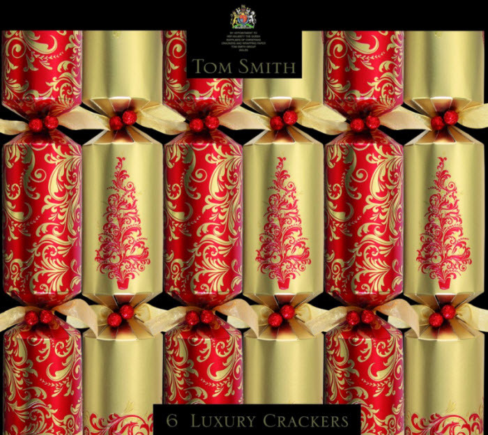 Luxury Christmas Crackers  Red & Gold Luxury Christmas Crackers