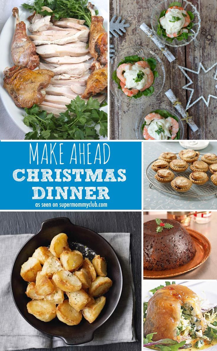 Make Ahead Christmas Dinners  17 Best images about Christmas Dinner on Pinterest