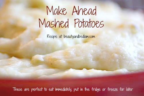 Make Ahead Mashed Potatoes Thanksgiving  Make Ahead Mashed Potatoes Freezer Mashed Potatoes Make