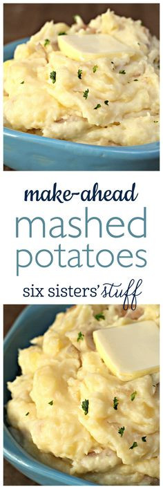 Make Ahead Mashed Potatoes Thanksgiving  1000 ideas about Mashed Potatoes on Pinterest