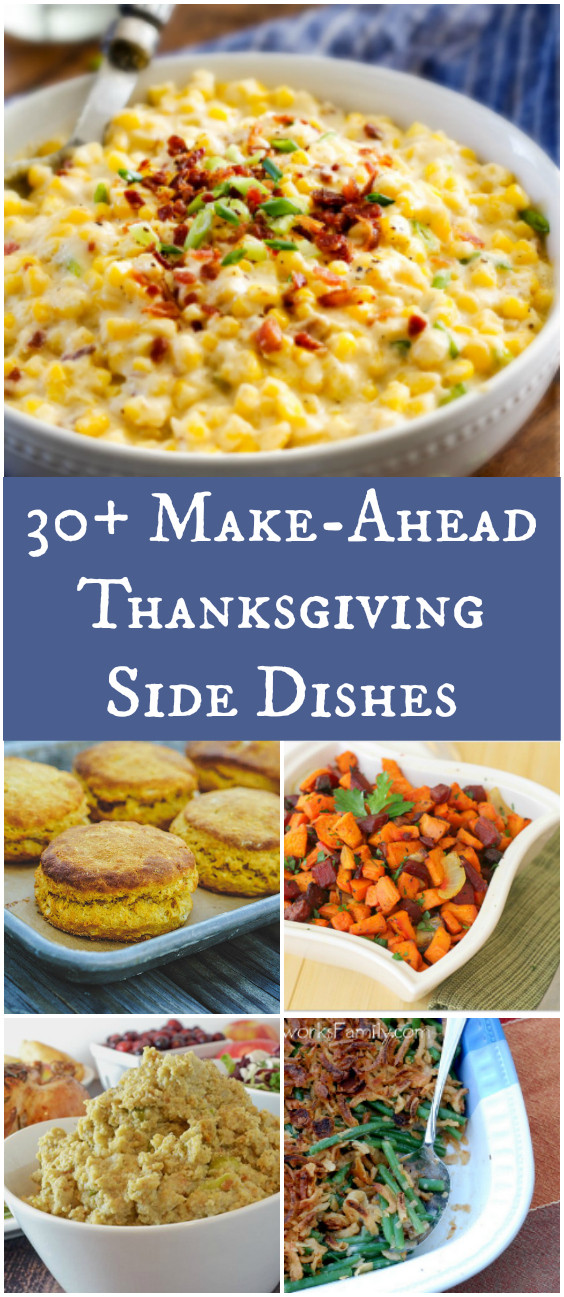 Make Ahead Side Dishes For Thanksgiving  30 Make Ahead Thanksgiving Side Dishes – Afropolitan Mom