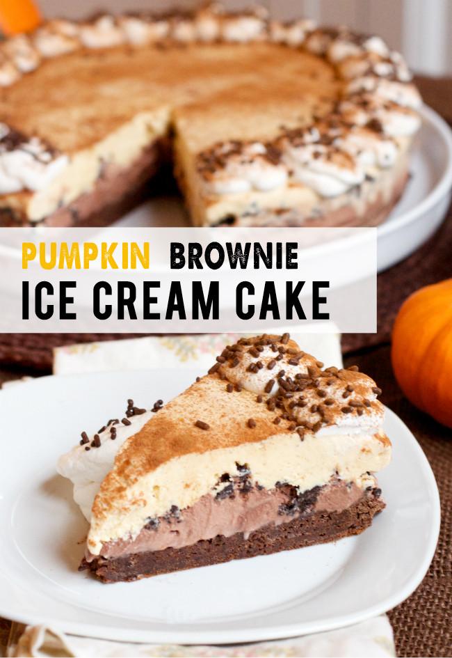 Make Ahead Thanksgiving Desserts  Make Ahead Thanksgiving Dessert Pumpkin Brownie Ice Cream