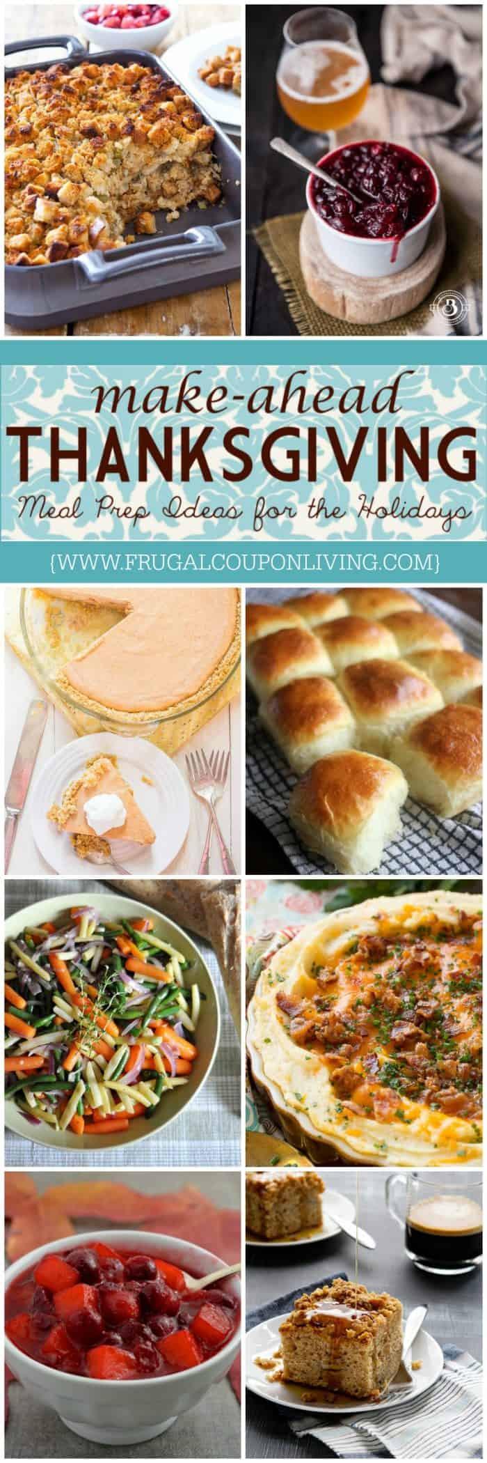Make Ahead Thanksgiving  Make Ahead Thanksgiving Recipes