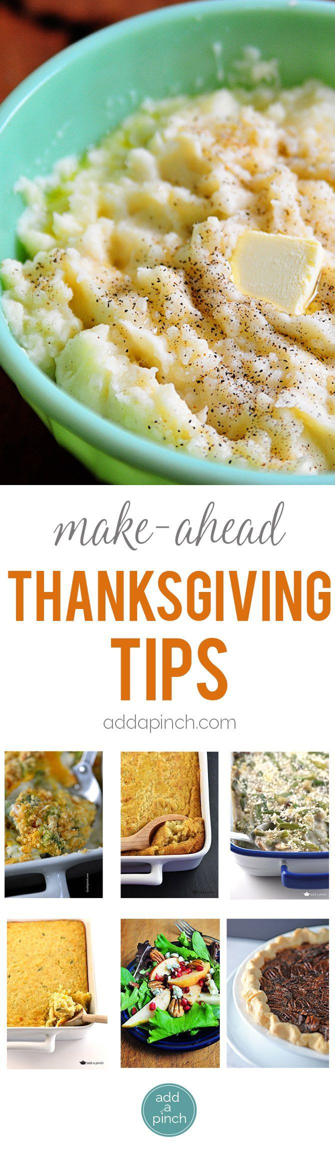 Make Ahead Thanksgiving  Make Ahead Thanksgiving Tips and Meal Plan
