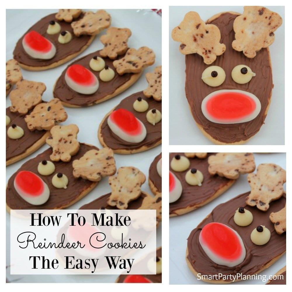 Making Christmas Cookies  How To Make Reindeer Cookies The Easy Way