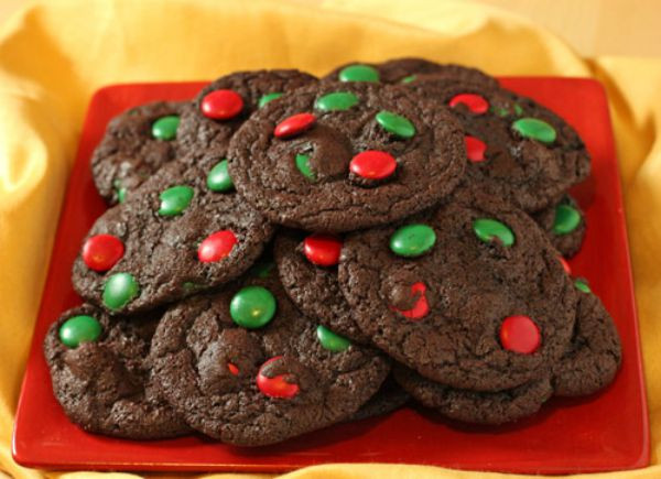 M&M Christmas Cookies Recipe  36 Easy Christmas Cookie Recipes To Try This Year