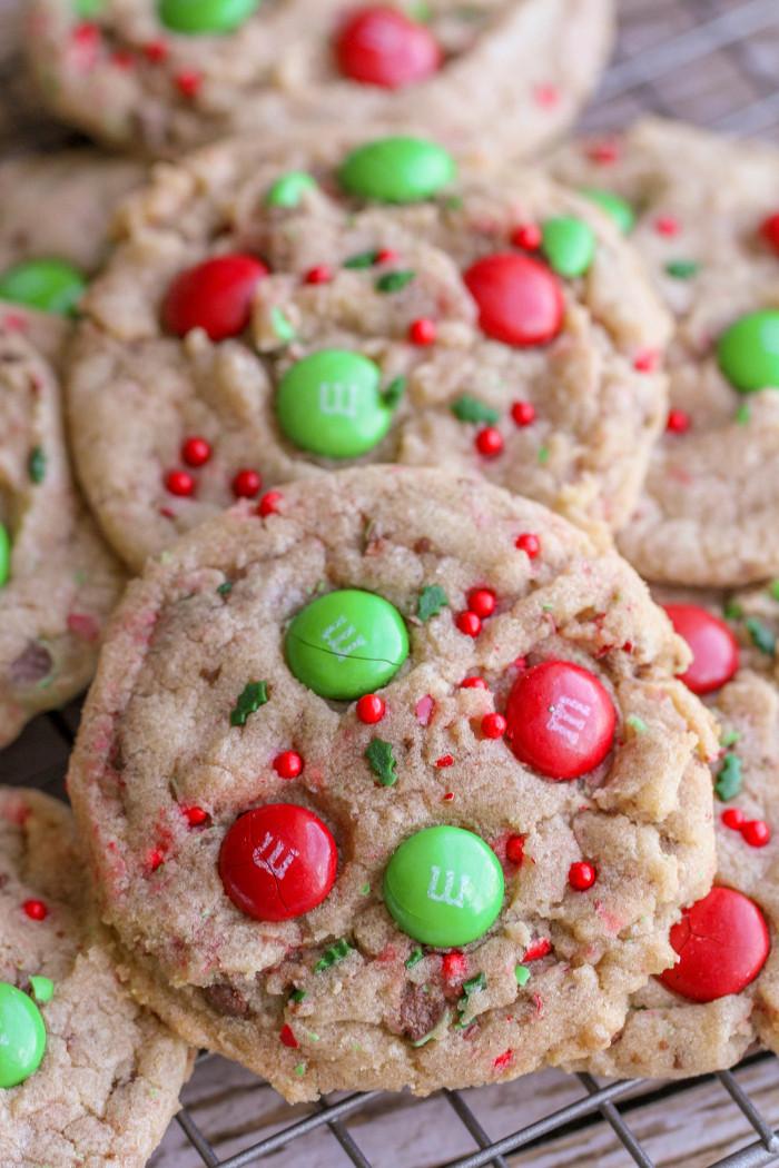 M&M Christmas Cookies Recipe  FAVORITE Christmas Cookies recipe