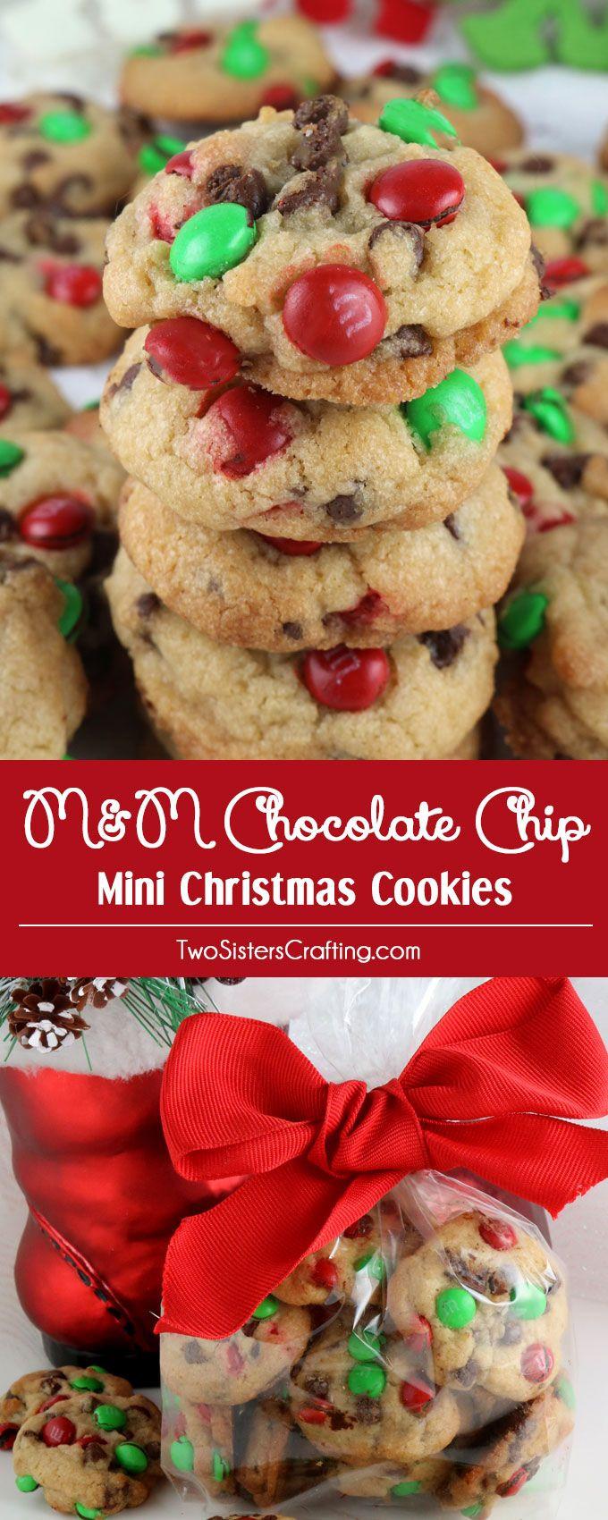 M&M Christmas Cookies Recipe  Christmas M&M Mini Cookies Recipe