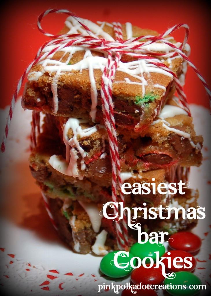 M&M Christmas Cookies Recipe  M & M Christmas Bar Cookies Pink Polka Dot Creations