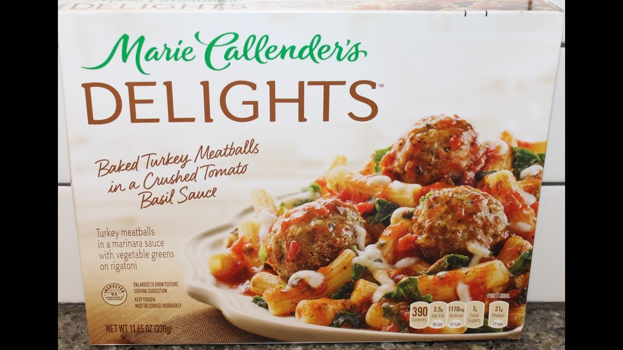 Marie Callender'S Thanksgiving Dinner  Marie Callender's Delights Baked Turkey Meatballs in a