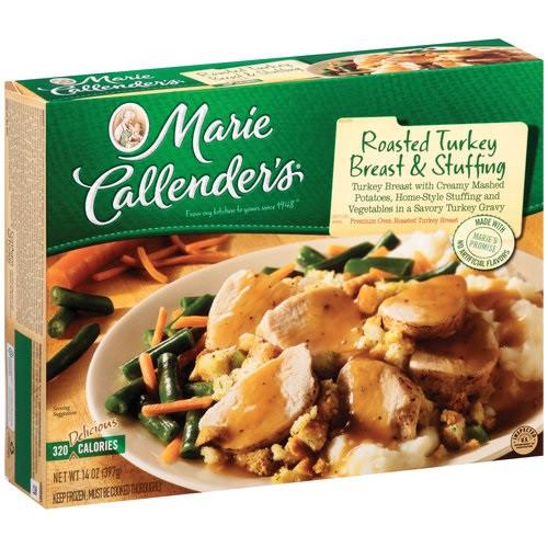Marie Callenders Thanksgiving Dinner  Marie Callender s Frozen Dinner Roasted Turkey Breast