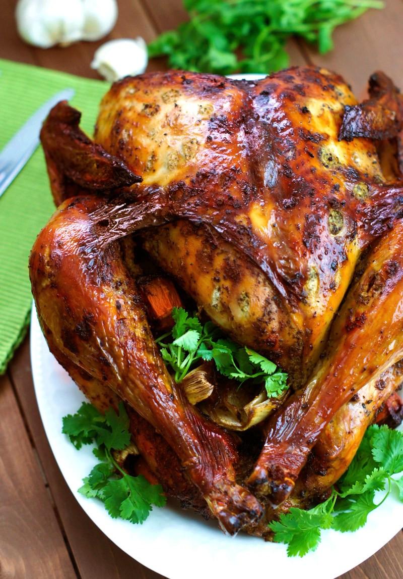 Marinating Thanksgiving Turkey  Latin Style Turkey With Mojo and Sazón Achiote