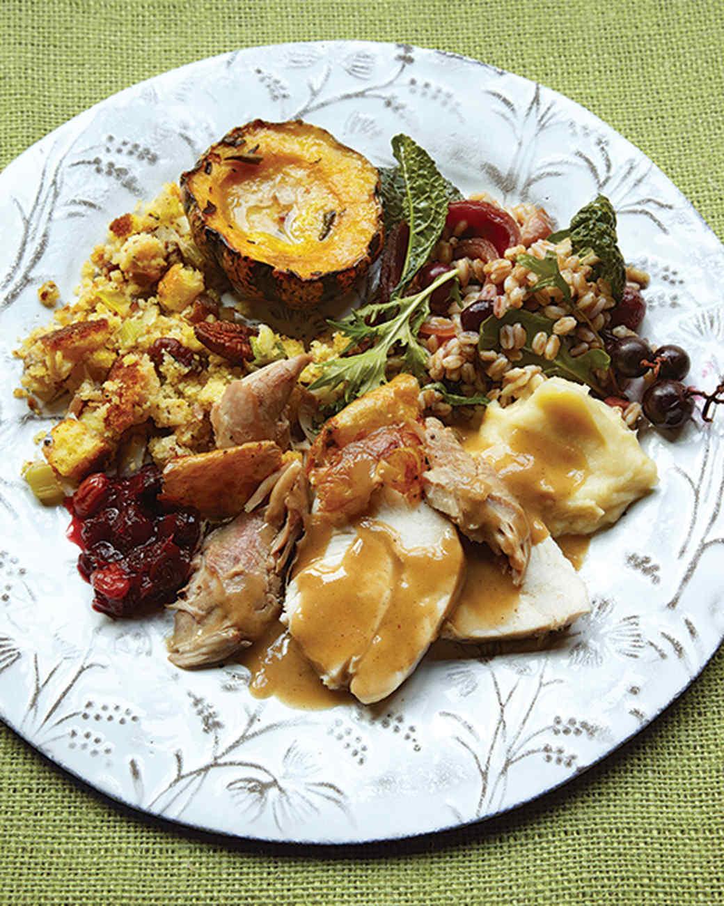 Martha Stewart Thanksgiving Turkey  Thanksgiving Menus