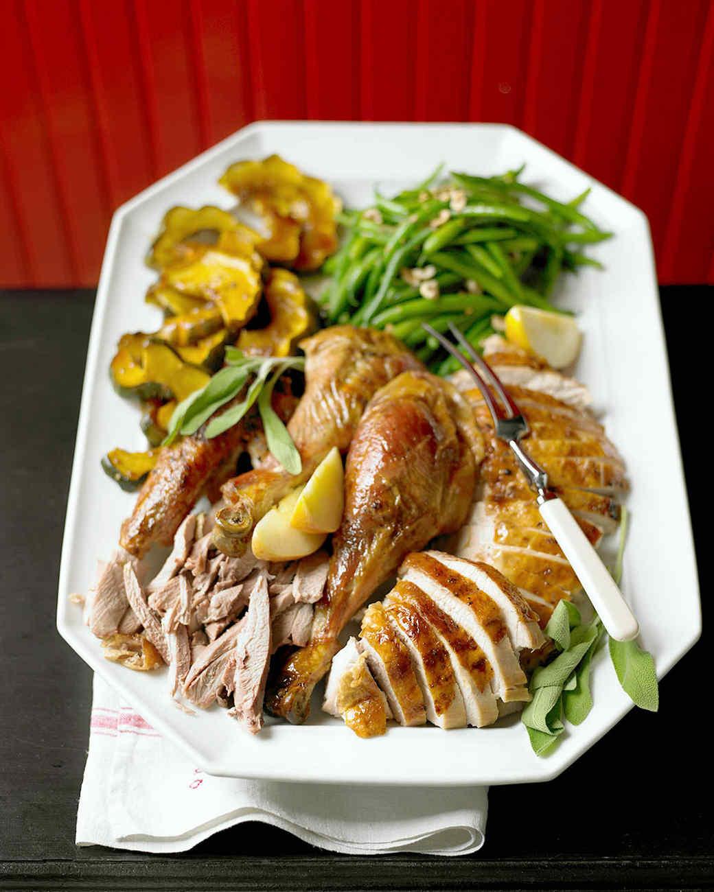 Martha Stewart Thanksgiving Turkey  Maple Glazed Turkey Recipe