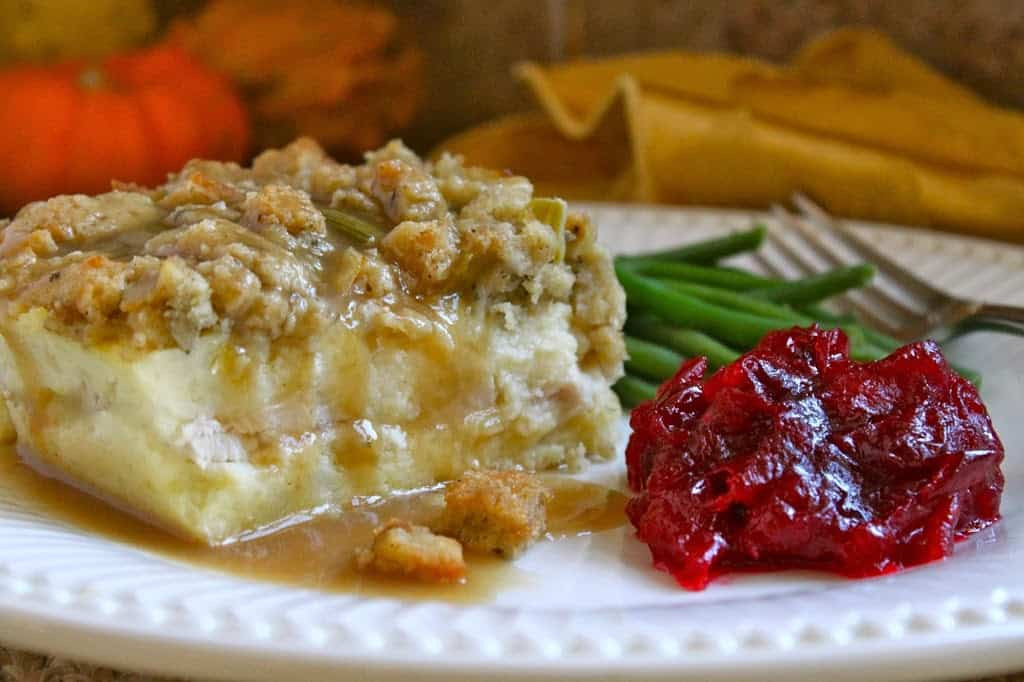 Mashed Potatoes For Thanksgiving  Genius Potato Turkey and Stuffing Layered Leftovers