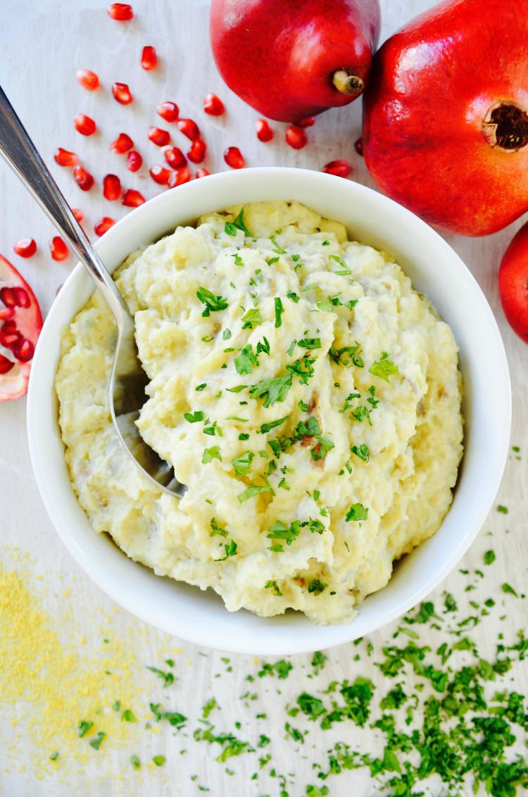 Mashed Potatoes Thanksgiving  Nutritarian Mashed Potatoes
