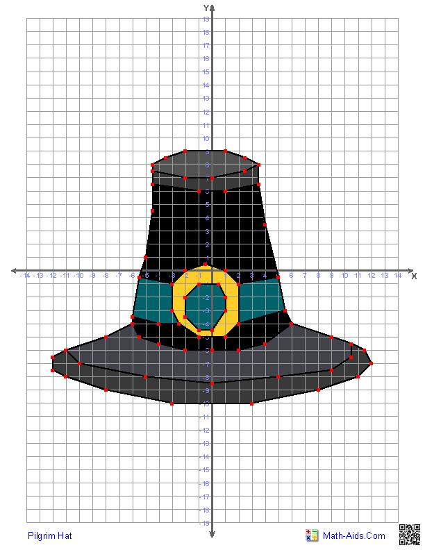 Math Aids Com Thanksgiving Turkey  Pilgrim Hat