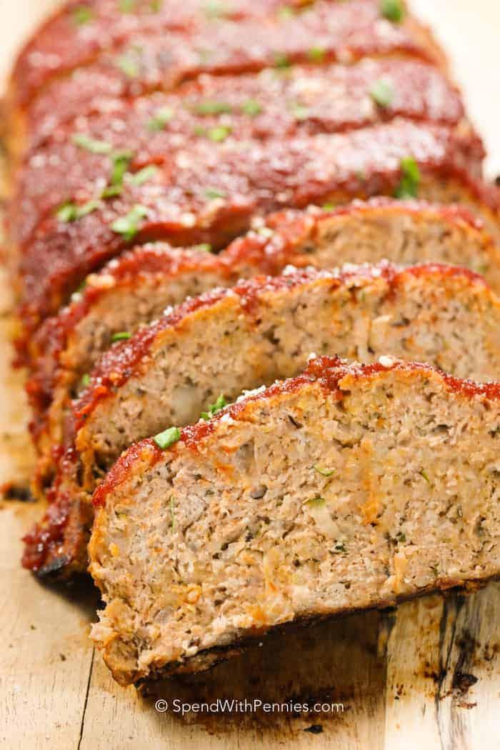 Meatloaf Falls Apart  Best Meatloaf Recipe Turkey & Beef Spend with Pennies