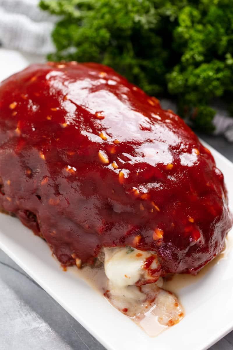 Meatloaf Falls Apart  Mozzarella Stuffed Meatloaf