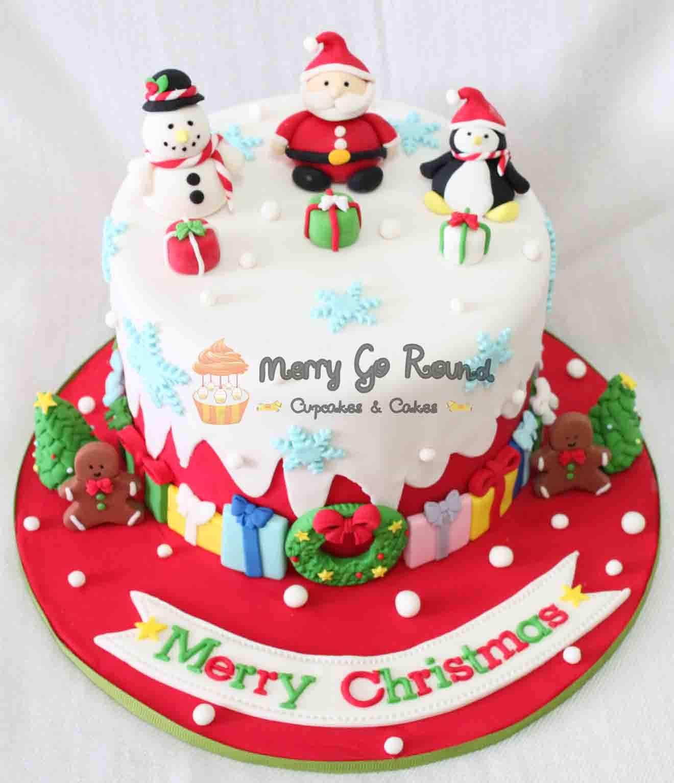Merry Christmas Cakes  Merry Go Round Cupcakes & Cakes Ho Ho Ho Santa Claus