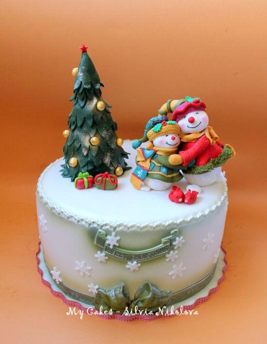 Merry Christmas Cakes  Merry Christmas Cake by marulka s CakesDecor