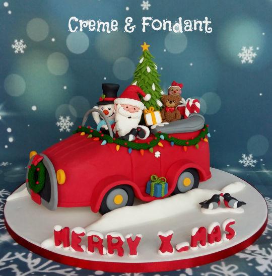 Merry Christmas Cakes  Merry Christmas cake cake by Creme & Fondant CakesDecor