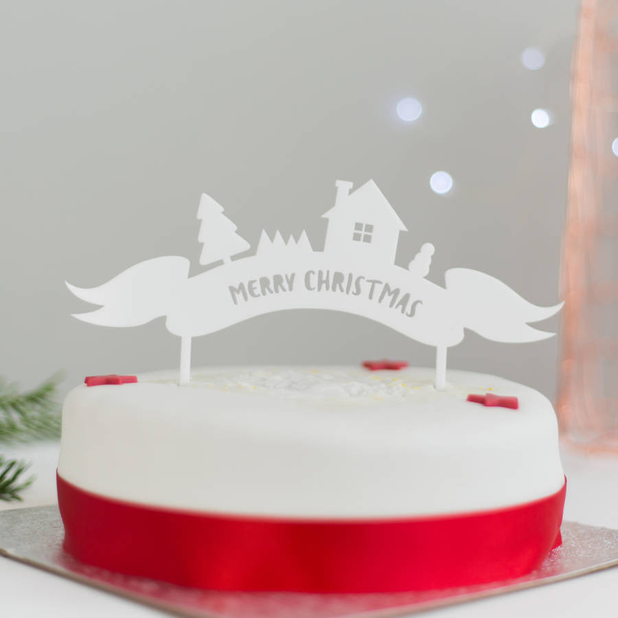 Merry Christmas Cakes  merry christmas cake topper by rocket and fox