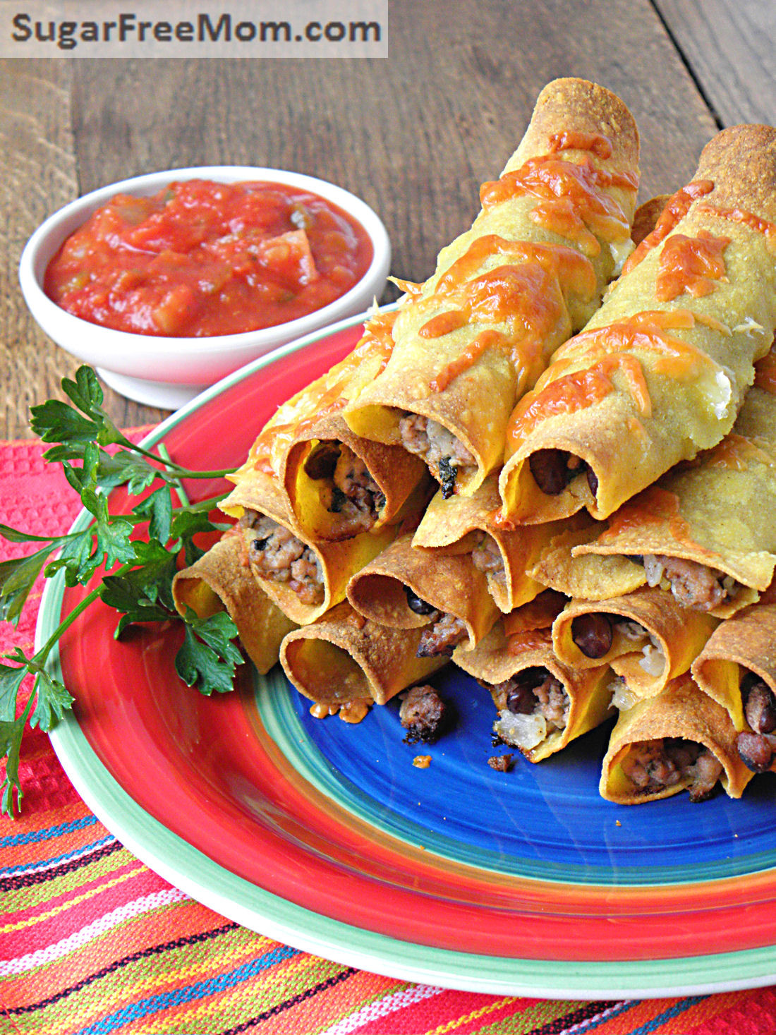 Mexican Thanksgiving Recipes  Oven Fried Mexican Turkey Taquitos