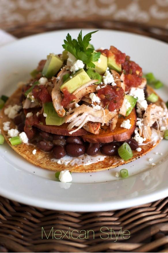 Mexican Thanksgiving Recipes  Mexican Tostada Recipe — Dishmaps