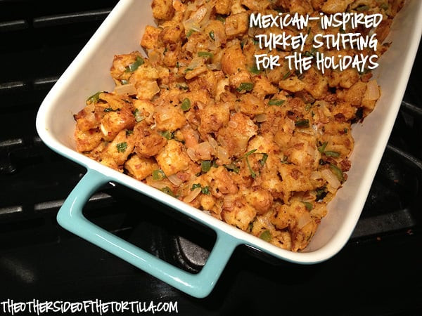 Mexican Thanksgiving Recipes  Turkey stuffing Mexican style The Other Side of the