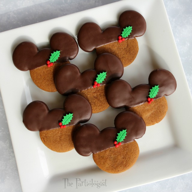 Mickey Christmas Cookies  The Partiologist Chocolate Gingerbread Mickey