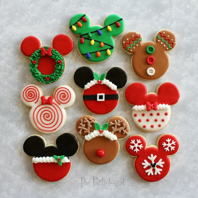 Mickey Christmas Cookies  After the Disney themed Christmas sugar cookies were