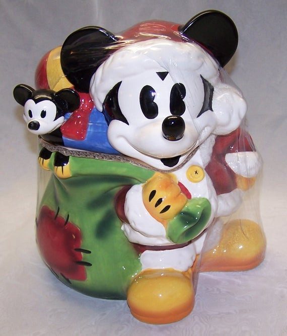 Mickey Christmas Cookies  Vintage JCPenney Mickey Mouse Christmas Cookie Jar