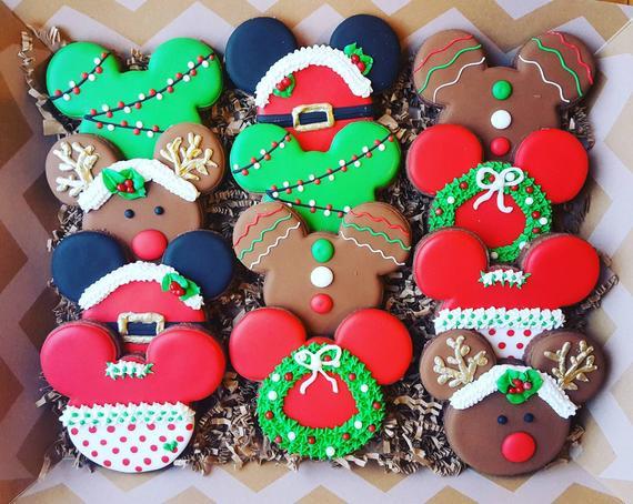 Mickey Christmas Cookies  Disney Inspired Christmas Cookies Christmas cookies mouse