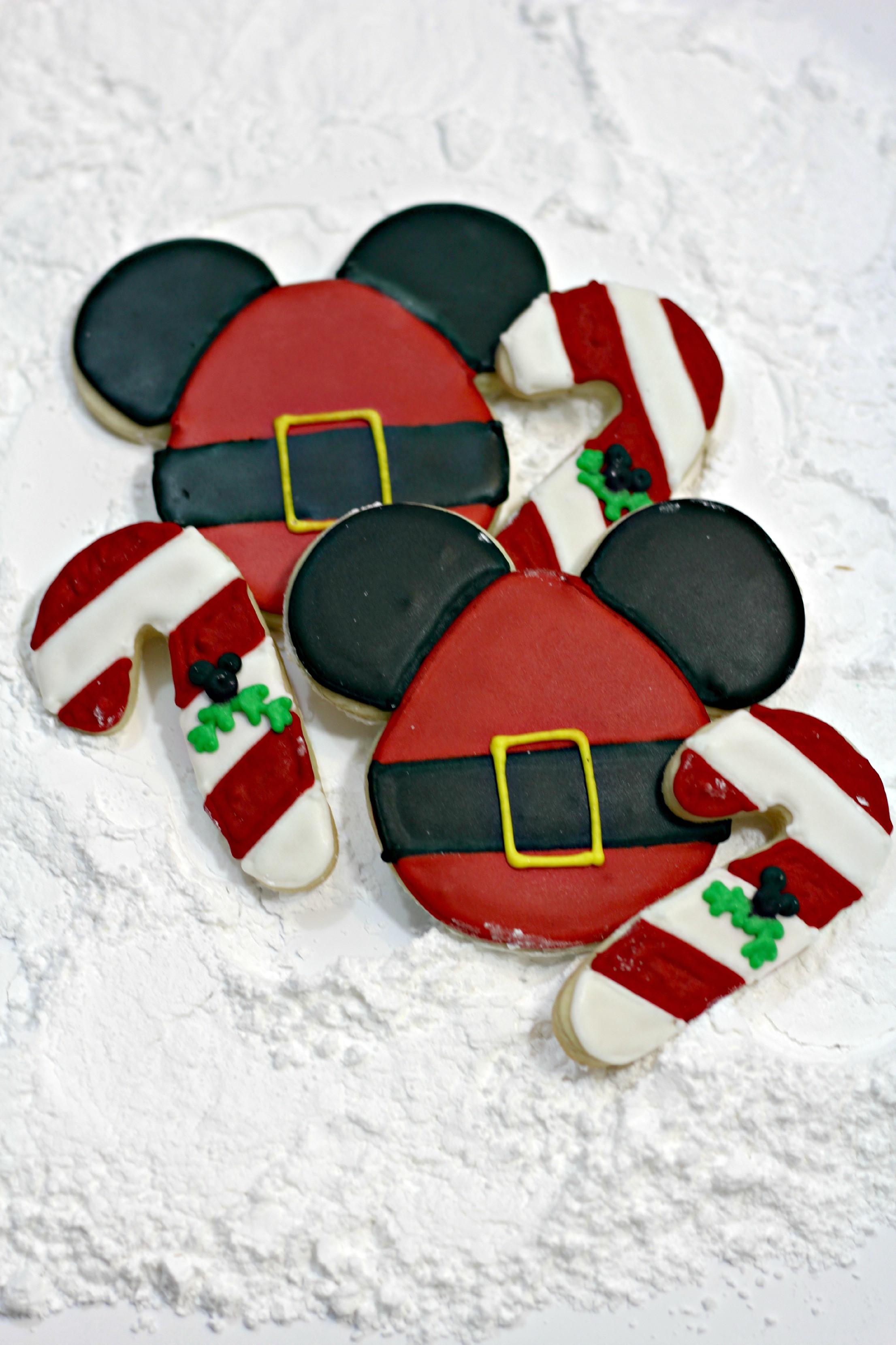 Mickey Christmas Cookies  Santa Mickey Sugar Cookies Food Fun & Faraway Places