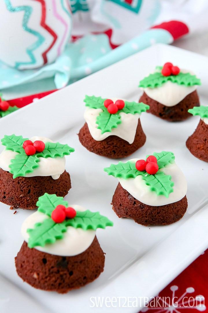 Mini Christmas Cup Cakes  Mini Christmas Pudding Cupcakes Recipe