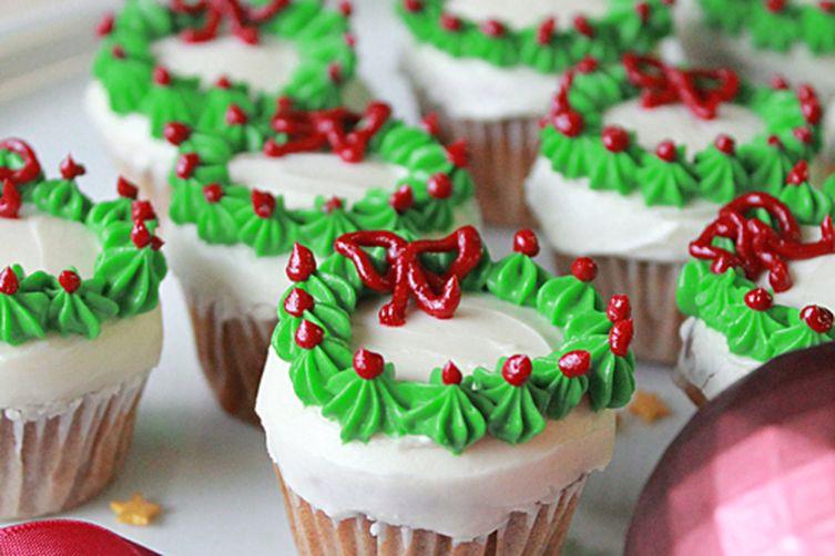 Mini Christmas Cup Cakes  Mini Christmas Wreath Cupcakes Recipe on Food52