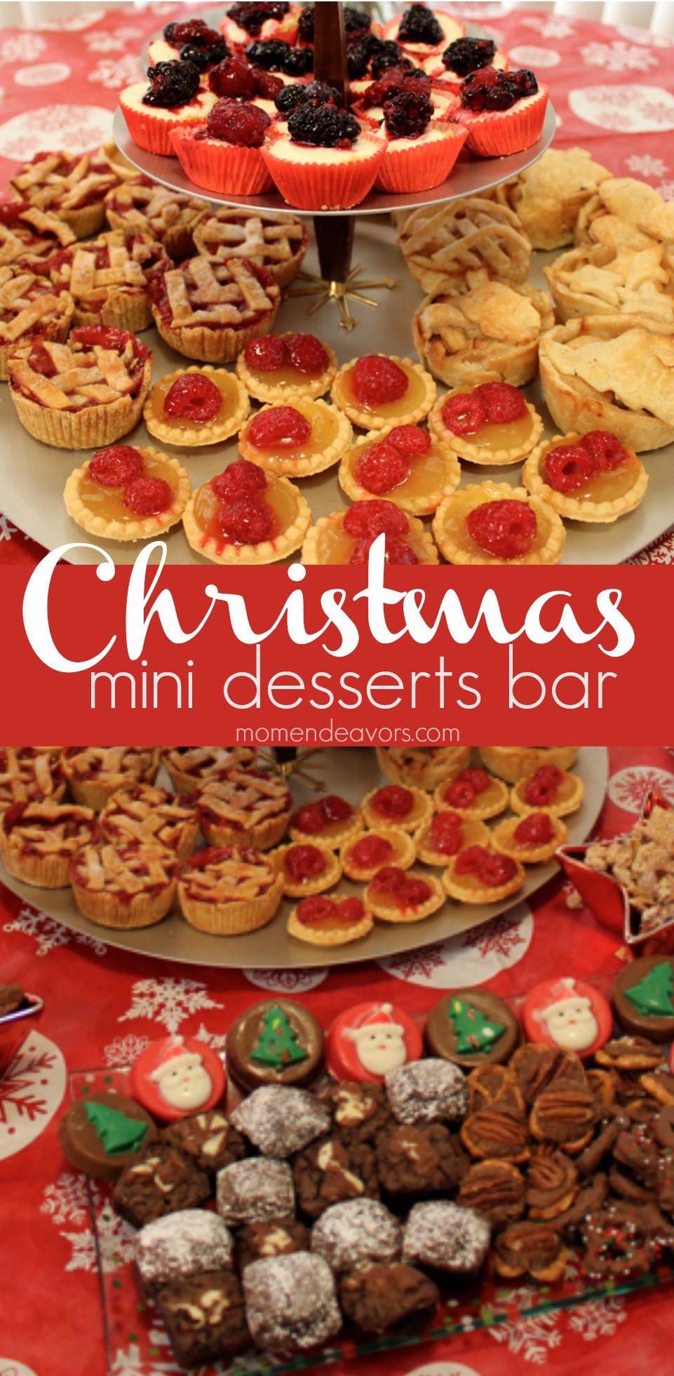 Mini Christmas Desserts  Mini Christmas Desserts Bar