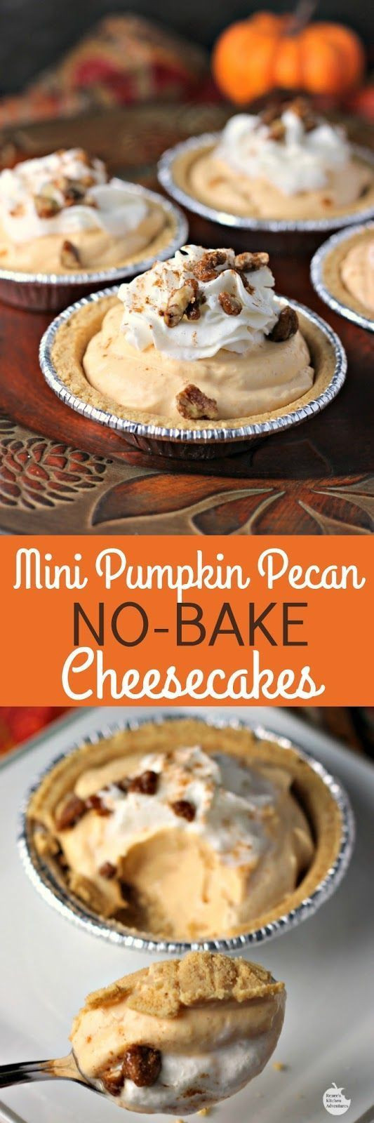 Mini Fall Desserts  Mini pumpkin pecan no bake cheesecakes recipe