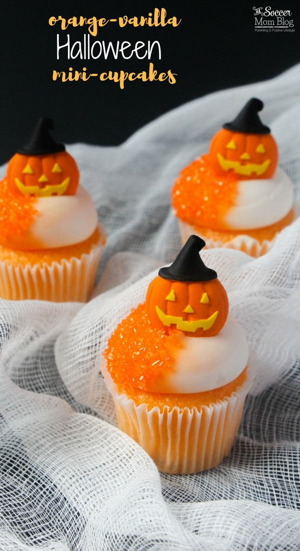 Mini Halloween Cupcakes  Jack O Lantern Mini Orange Halloween Cupcakes Creamsicle